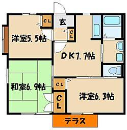 M'sシーサイドプラザIIA・B[1階]の間取り