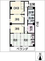 毛利コーポ2[2階]の間取り