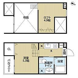 愛知県名古屋市中村区中村本町3丁目の賃貸アパートの間取り
