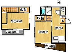 [一戸建] 千葉県松戸市高塚新田 の賃貸【/】の間取り