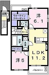 フリーデII[2階]の間取り