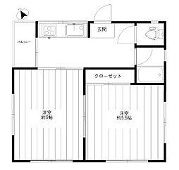 浅野マンション[3階]の間取り