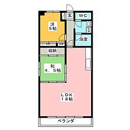 コムフォルト2003[2階]の間取り