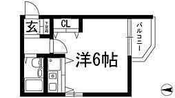 ロイヤルメゾン花屋敷[2階]の間取り