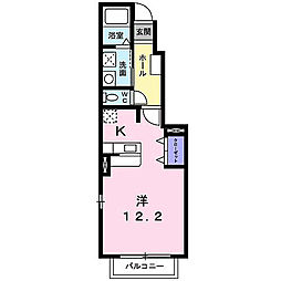 福岡県北九州市八幡西区御開1丁目の賃貸アパートの間取り