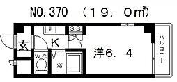 ラッキーセンター河堀口マンション[2階]の間取り