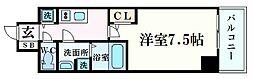 プレサンス梅田東ベータ 12階1Kの間取り