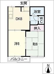 サンコーポ蔵子 B棟[2階]の間取り