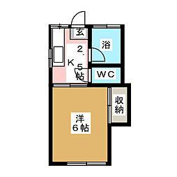 コーポ吉田[1階]の間取り