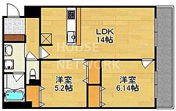 Cave de K(カーブドケイ)(仮称)Kマンション[103号室号室]の間取り