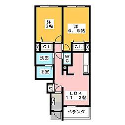 サンリットガーデンA・B[1階]の間取り