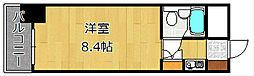 シンコー小倉黄金スカイマンション[0603号室]の間取り