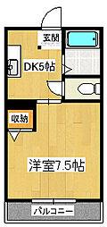 静岡県三島市日の出町の賃貸アパートの間取り