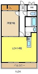 LaLaYAGOTO[3階]の間取り