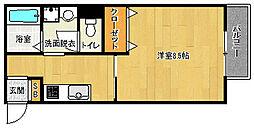 京都府京都市北区紫竹北大門町の賃貸アパートの間取り