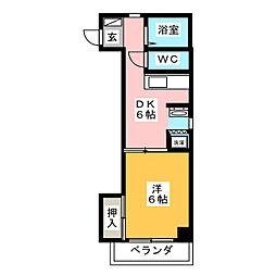 ラフォーレ岐阜[3階]の間取り