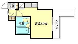 大阪府八尾市本町4丁目の賃貸マンションの間取り