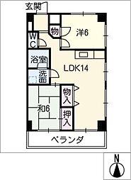 栗木商事株式会社 第一ビル[2階]の間取り
