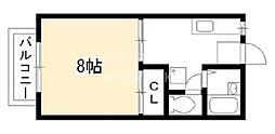 コーポ・キタノ[203号室号室]の間取り