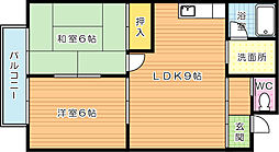 ハイツ成田[102号室]の間取り