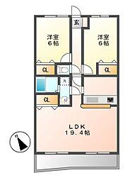 マ・ピエス E III[4階]の間取り
