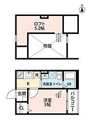 愛知県名古屋市西区万代町2丁目の賃貸アパートの間取り