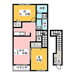 パークサイド鴻之台[2階]の間取り