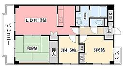 イーストハイムIII[2階]の間取り