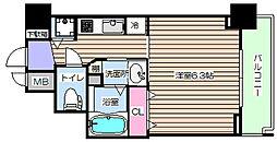 アクアプレイス梅田5 11階1Kの間取り