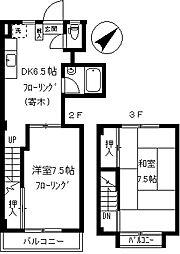 ビラ浅田[B号室]の間取り
