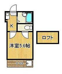 レオパレス湘南戸塚(レオパレスショウナントツカ)[1階]の間取り