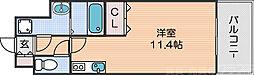Osaka Metro四つ橋線 花園町駅 徒歩6分の賃貸マンション 7階ワンルームの間取り