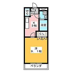 コンフォール舟小屋[3階]の間取り