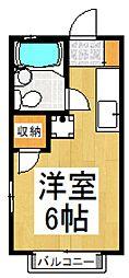 メゾンドモナミ[1階]の間取り