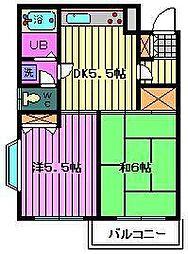 埼玉県川口市末広2丁目の賃貸マンションの間取り