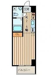 アフィーノ川崎[3階]の間取り