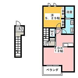 アリエッタIII[2階]の間取り