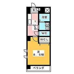 ミカーサ・キタ[6階]の間取り