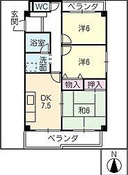 堀切ビル[3階]の間取り