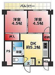 サニー松戸[1階]の間取り