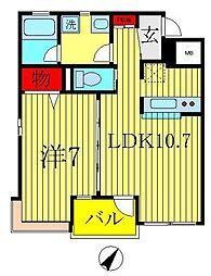 スペリオ[K-?203号室]の間取り