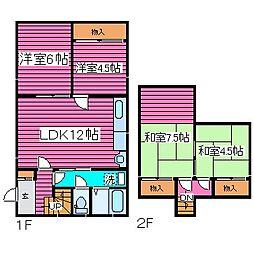 [一戸建] 北海道札幌市東区北四十七条東14丁目 の賃貸【/】の間取り