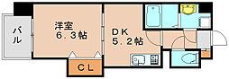 シャンドフルール[2階]の間取り