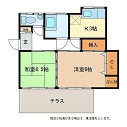 [一戸建] 長野県長野市中越 の賃貸【/】の間取り