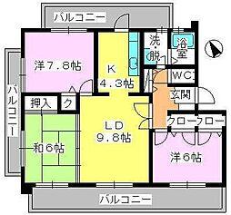 スカイヒルズ6[2階]の間取り
