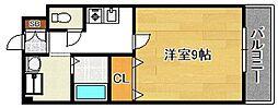 ラピス平野[203号室]の間取り