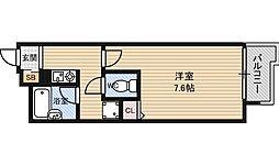 プレサンス新大阪[11階]の間取り