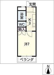 木原ハイツ[3階]の間取り
