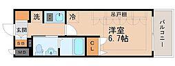 Osaka Metro谷町線 天神橋筋六丁目駅 徒歩14分の賃貸マンション 9階1Kの間取り