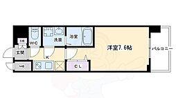 クリスタルグランツ京都西大路 5階1Kの間取り
